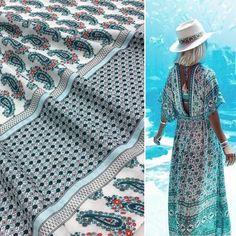 54 отметок «Нравится», 1 комментариев — Магазин Тканей и Фурнитуры (@tessuti_cloth) в Instagram: «Лёгкий, пластичный вискозный штапель 🌿🌿🌿 идеально подходит для летнего платья🌿🌿🌿 #тканиоптом…»
