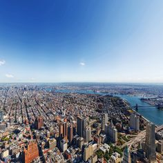 Time created the interactive image of logistics of NY City, the Statue of Liberty, the Brooklyn Bridge, the East River and Manhattan. See my view from the top of #1WTC via @TIME_Magazine