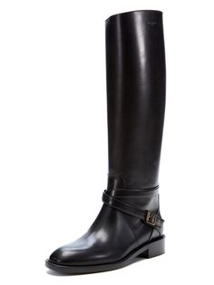 Signature Cavaliere Leather Buckle Boot from Designer Shoe Salon Feat. Marni on Gilt