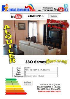 746030913 330 €/mes 2 hab 1 baño gas Centro Miranda de Ebro http://www.youtube.com/watch?v=IWOuKgNE5FE