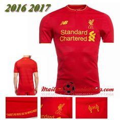 Les Nouveaux Maillot Liverpool FC Domicile Rouge 2016 2017: fr-moinscher