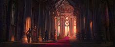 ArtStation - The Throne Room, René Aigner Fantasy Castle, High Fantasy, Medieval Fantasy, Fantasy World, Fantasy Art Landscapes, Fantasy Landscape, Fantasy Concept Art, Fantasy Artwork, Games Design