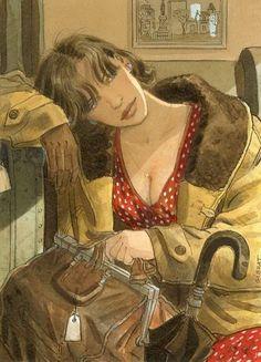 • by Jean Pierre Gibrat ; • see more here: http://xaxor.com/drawings/40956-art-by-jean-pierre-gibrat-.html