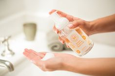 Buy a hydrating and natural foaming hand soap from The Honest Company. Free of  phthalates, sulfates, and fragrances. With  soothing plant botanicals & refreshing citrus oils.