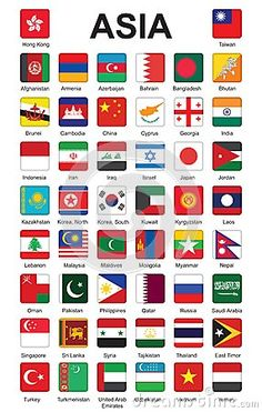 flags of Asia by Romantiche, via Dreamstime