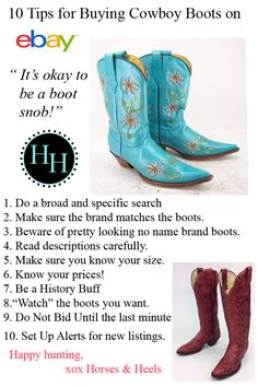 10 Tips for Buying Cowboy Boots on eBay via Horses & Heels