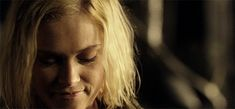 Clarke Griffin only smiling for Bellamy Blake.