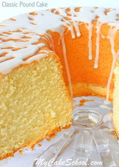 Classic Pound Cake Recipe- Deliciously Moist and Flavorful! by MyCakeSchool.com. Online Cake Tutorials & Recipes!