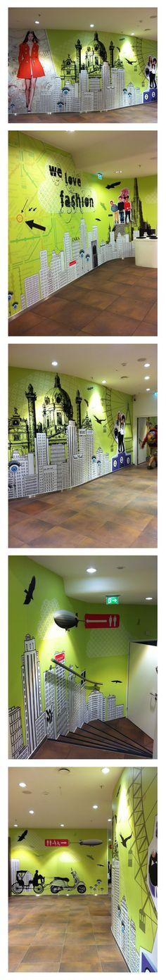 Gerngross Wandgestaltung Aquarium, Wall Design, Classic, Advertising, Goldfish Bowl, Aquarium Fish Tank, Aquarius, Fish Tank