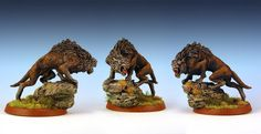 """Warg Chieftain, Games Workshop's """"Lord of the Rings"""" line Tolkien, Lotr, Warhammer Figures, Ring Game, Battle Games, Space Wolves, Game Workshop, Fantasy Miniatures, Armies"""
