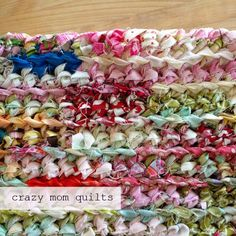 how to crochet a rag rug with fabric yarn Excellent tutorial. This is the easiest one I've seen to date!