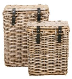 Mand met gesp deksel: stoere wasmand voor je slaapkamer Rattan, Wicker, English Style, Farmhouse Chic, Coastal Living, My Dream Home, Home Goods, Home Decor, Laundry Baskets