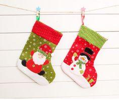 Xmas Christmas Gifts Ornaments Santa Claus Socks Storage Big Tree Decor 4 Pcs