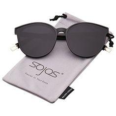 9a59e071d1 SOJOS Fashion Round Sunglasses for Women Men Oversized Vintage Shades SJ2057