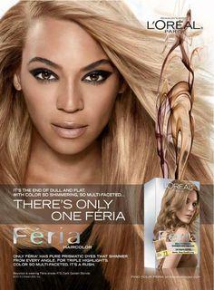 @L'Oreal Paris ad with Beyoncé