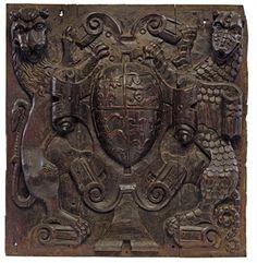 A HENRY VIII CARVED OAK RELIEF OF THE TUDOR COAT-OF-ARMS Tudor Era, Tudor Style, King Henry, Henry Viii, Tudor History, British History, Vikings, Renaissance, Tudor Dynasty