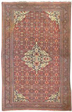 antique Mahal carpet, West Persia   590cm. x 373cm.(19ft.5in. x 12ft.3in.)  I Christie's Sale 4948