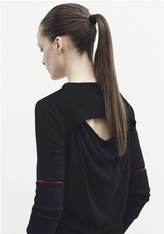 Sporty Chic Minimalism - draped top; contemporary fashion details // Silent by Damir Doma A/W 2015