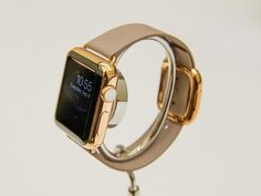 The high-end line of the Apple Watch includes this shiny model that's finished in 18K gold.