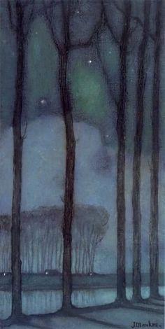 huariqueje:  Moon Night - Jan Mankes 1914 Dutch 1889-1920