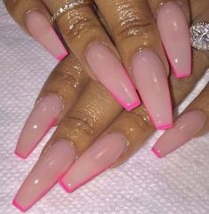 In look for some nail designs and ideas for your nails? Here's our list of 38 must-try coffin acrylic nails for stylish women. Winter Nails, Summer Nails, Fall Nails, Pink Nails, My Nails, Nailart, Best Acrylic Nails, Colourful Acrylic Nails, Dope Nails