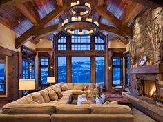amazing living room for a mountain house or my future house in Jacksonville lol