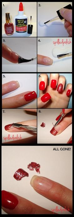DIY: The EASIEST way to remove GLITTER nail polish! By: spilledpolish