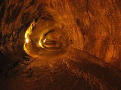 Thurston Lava Tube at Hawaii Volcanoes National Park on the Big Island of Hawaii.