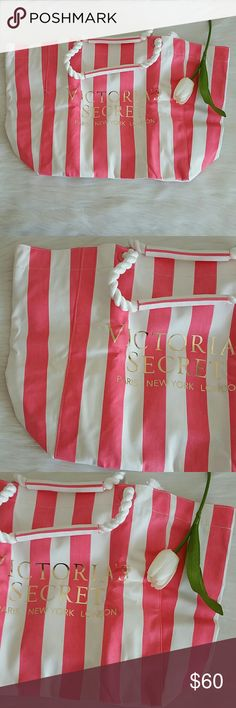 Nwt Victoria's Secret tote bag Brand new with tag never used  Smoke and pet free home.  Fast shipping + extra gift.  I don't trade love.  Available Feel free to buy /bundle.  Come with original packaging. Lowest 30 Victoria's Secret Bags Totes