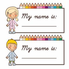Free Printable Name Tags For Children S Church Kids Board