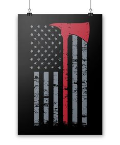 Firefighter Thin Red Line. The perfect poster for any proud firefighter. Order here - https://diversethreads.com/products/firefigher-thin-red-line-poster?variant=19089754949