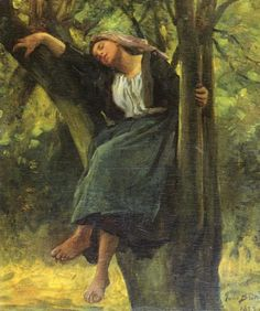 Cave to Canvas, Jules Breton, Asleep in the Woods, 1877
