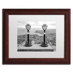 Tower Viewers BW by Preston Framed Photographic Print