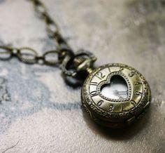 Alice in Wonderland - Love Lockdown Pocket Watch from robinhoodcouture on Etsy. Saved to iFRESH! Pocket Watch Necklace, Silver Pocket Watch, Jewelry Box, Jewelery, Jewelry Accessories, Wire Jewelry, Heart Locket, Locket Necklace, Necklaces