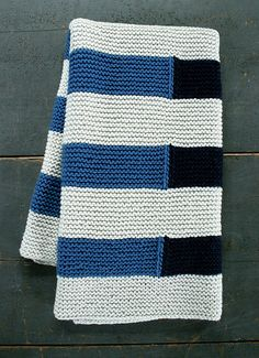 Shadow Stripe Baby Blanket By Purl Soho - Free Knitted Pattern - (ravelry)