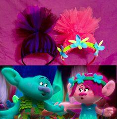 Trolls Headbands, Trolls Inspired Costume accessory, Poppy Hair, Poppy Headband by AngelinaRoseInspired on Etsy https://www.etsy.com/listing/488965134/trolls-headbands-trolls-inspired-costume
