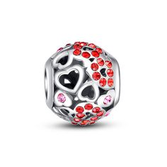 Hearts in Round Bead