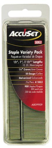 AccuSet A809909 Variety Pack 1/4-Inch Crown 18 Gauge Galvanized Staples *** Read more reviews of the product by visiting the link on the image.