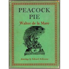 Peacock  Pie - A Book of Rhymes, written by Walter De la Mare, illustrated by Edward Ardizzone