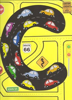 The kids learn letter c with this fun craft. Use cut out cars and traffic signs.