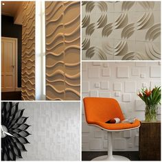 Decoração de Parede em 3D - http://decoracao24.com/decoracao-de-parede-em-3d/