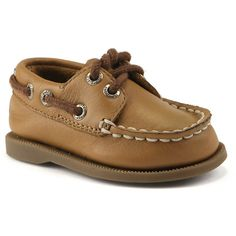 Sperry Top-Sider Baby Authentic Original Crib Boat Shoe (495 ARS) ❤ liked on Polyvore featuring baby clothes, baby boy, baby things, kids and sahara