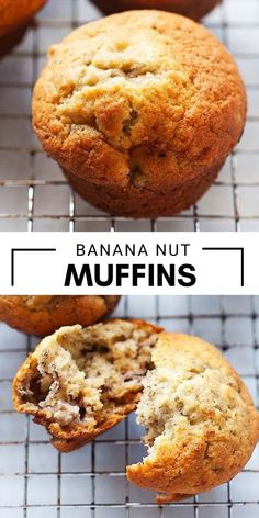Best Banana Nut Muffin Recipe, Banana Nut Muffins, Muffin Recipes, Sweet Desserts, Delicious Desserts, Dessert Recipes, Rasa Malaysia, Best Sweets, Cupcakes