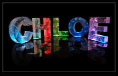 the name chloe | The Name Chloe in 3D coloured lights