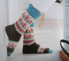 Fair isle socks from Northern knits gifts by Lucinda Guy