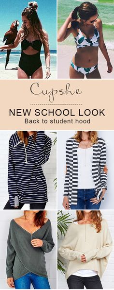 Enjoy casual & peaceful school life with your friends, girls! No matter in hot bikini or chic sweater, you gonna be the shinest at party. How amazing you will be! Check them out!