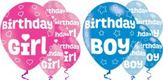 #Birthday latex balloons #boy/girl - #blue/pink helium/air fill 6 pack ,  View more on the LINK: http://www.zeppy.io/product/gb/2/142204598798/