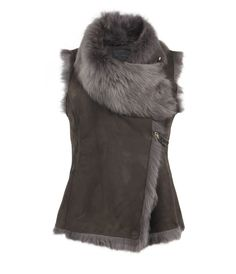 Oh how I wish I lived somewhere I could wear this! Just for a week or so though! Pelt Gilet, Women, Leather, AllSaints Spitalfields