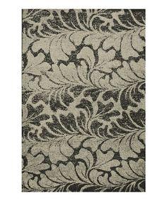 Another great find on #zulily! Charcoal & Beige Jaxx Rug #zulilyfinds