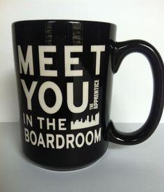 The Apprentice NBC TV Meet You In the Boardroom Large Black Coffee Mug 14 oz